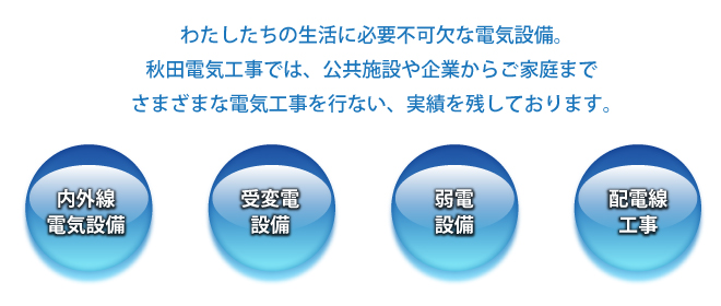 秋田電気工事の業務内容